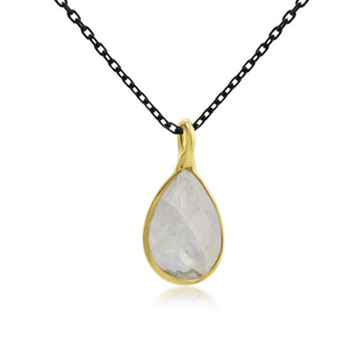 Teardrop Moonstone Balance Necklace - SilaDea Jewelry