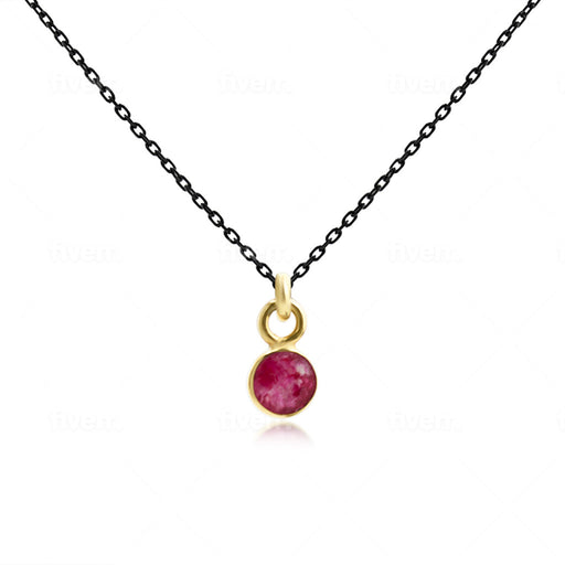 Baby Ruby Pendant Necklace - SilaDea Jewelry