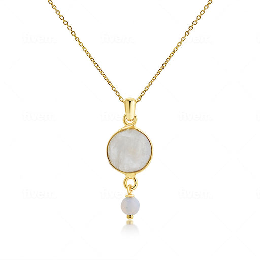 Moonstone Pendant Necklace - SilaDea Jewelry