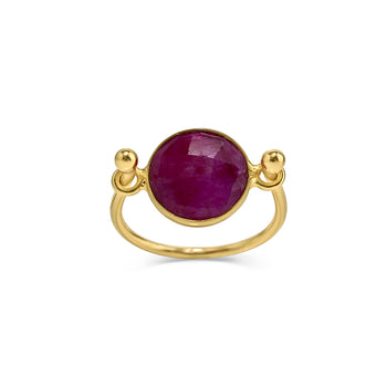 Ruby Balance Ring - SilaDea Jewelry