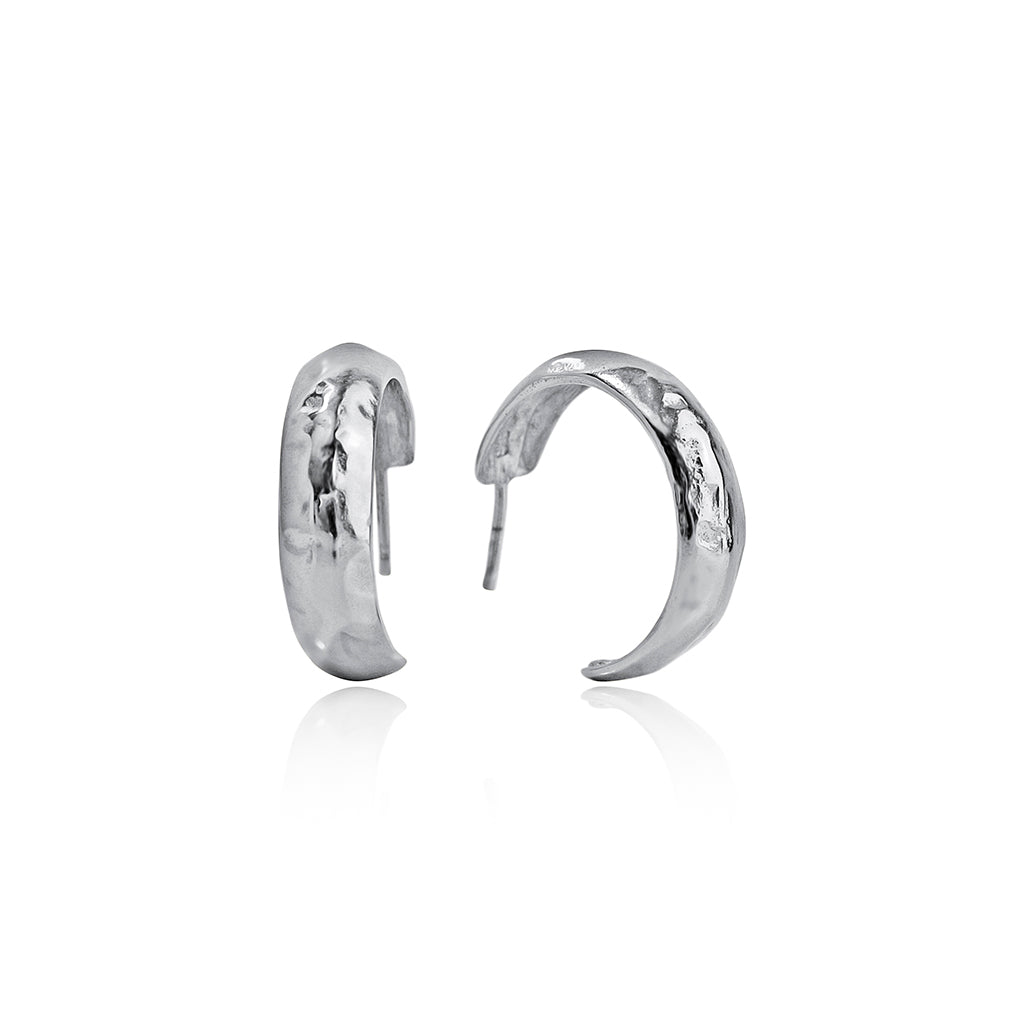 Marteleè Medium Hoops - SilaDea Jewelry