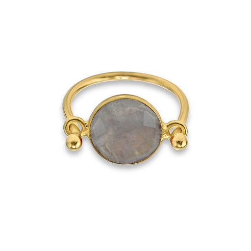 Gold Moonstone Ring - SilaDea Jewelry