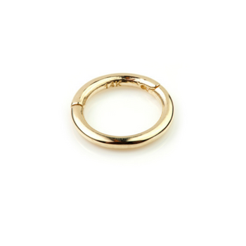 14k Gold Infinity Circle Hoop Earring - SilaDea Jewellery