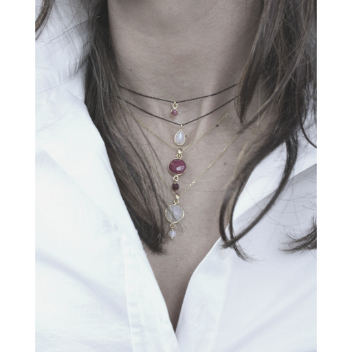 Ruby Pendant Necklace - SilaDea Jewelry