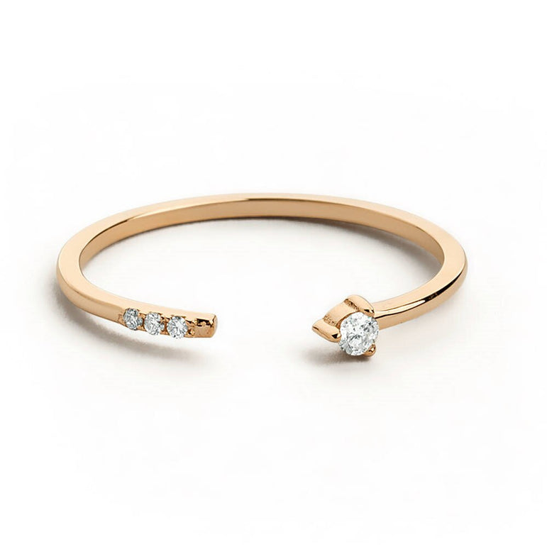 14k Never Ending Ring-Women - Jewellery - Rings-SILADEA