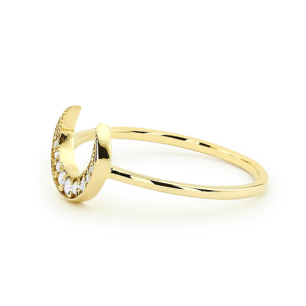 Dione Moon Gold Ring-Women - Jewellery - Rings-SILADEA