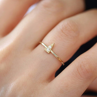 14k Triangle Ring-SILADEA