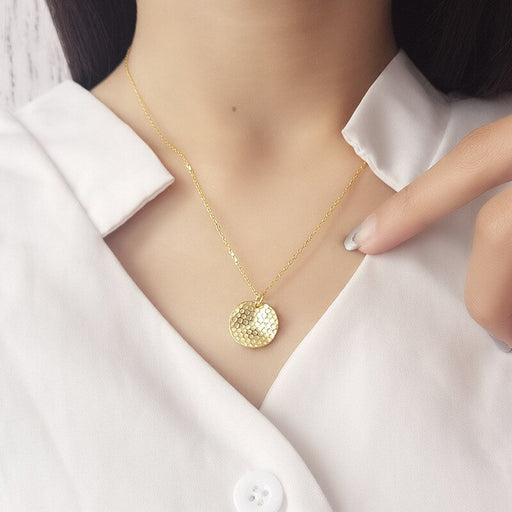 Honeycomb Pendant Necklace-Women - Jewellery - Necklaces-SILADEA