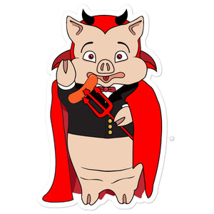 Devil Pig Sticker - Rudys Bar & Grill