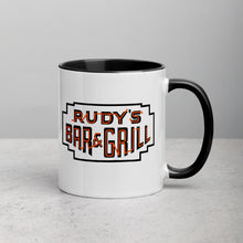 Load image into Gallery viewer, Dracula Pig + Neon Sign Mug - Rudys Bar & Grill