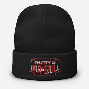 Neon Sign Beanie - Rudys Bar & Grill