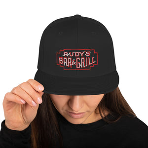 Neon Sign Snapback Hat - Rudys Bar & Grill