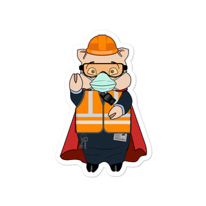 Transit Worker Masked Hero Pig - Rudys Bar & Grill