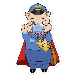 Postal Worker Masked Hero Pig - Rudys Bar & Grill
