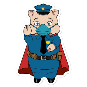 Police Masked Hero Pig - Rudys Bar & Grill