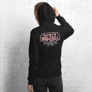Pig + Neon Sign Hell's Kitchen Hoodie - Rudys Bar & Grill