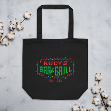 Christmas Neon Sign Eco Tote Bag - Rudys Bar & Grill