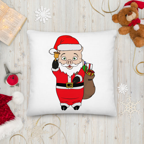 Christmas Neon Sign + Santa Pig Pillow - Rudys Bar & Grill