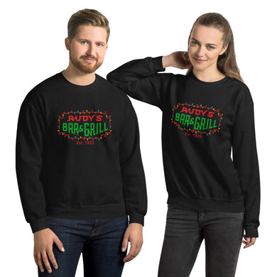 Christmas Neon Sign Sweatshirt - Rudys Bar & Grill