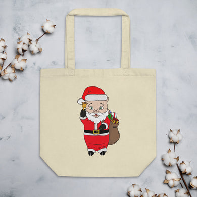 Santa Pig Eco Tote Bag - Rudys Bar & Grill