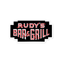 Load image into Gallery viewer, Neon Sign Dark Logo Sticker - Rudys Bar & Grill