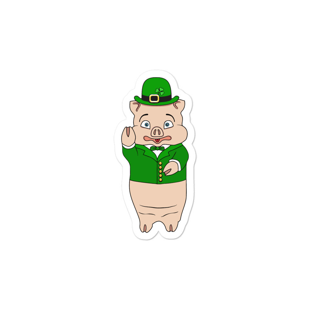St. Patrick's Day Pig Sticker - Rudys Bar & Grill