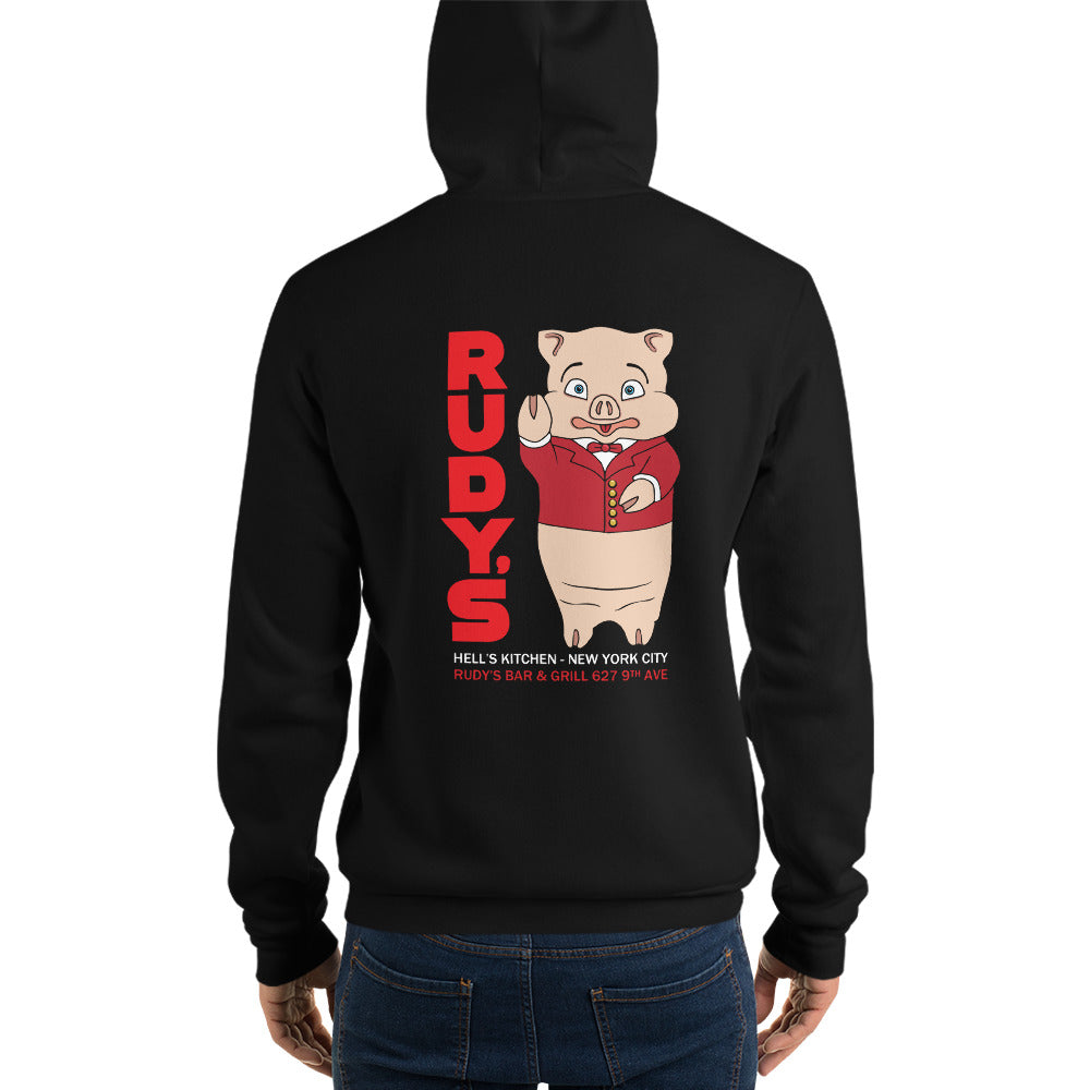 Classic Rudy's Pig Hoodie - Rudys Bar & Grill