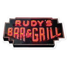 Load image into Gallery viewer, Neon Sign Sticker - Rudys Bar & Grill