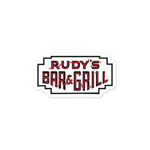 Classic Neon Sign Sticker - Rudys Bar & Grill