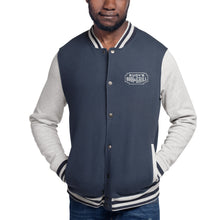 Load image into Gallery viewer, White Neon Embroidered Champion Bomber Jacket - Rudys Bar & Grill