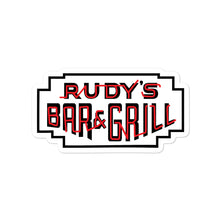 Load image into Gallery viewer, Classic Neon Sign Sticker - Rudys Bar & Grill