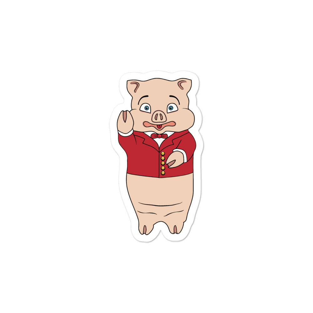Modern Pig Sticker - Rudys Bar & Grill