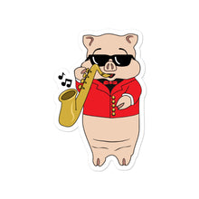 Load image into Gallery viewer, Pig Saxophone Sticker - Rudys Bar & Grill
