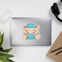 Load image into Gallery viewer, Nurse Masked Hero Pig Head Sticker - Rudys Bar & Grill