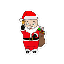 Load image into Gallery viewer, Santa Pig Sticker - Rudys Bar & Grill