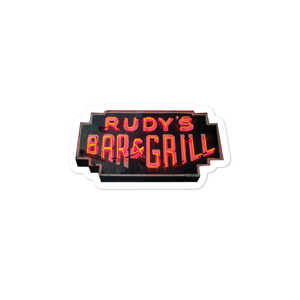 Neon Sign Sticker - Rudys Bar & Grill