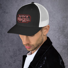 Load image into Gallery viewer, Red Frame Neon Sign Trucker Hat - Rudys Bar & Grill
