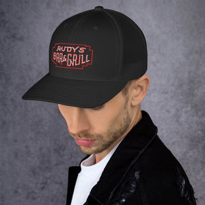 Neon Sign Trucker Hat - Rudys Bar & Grill