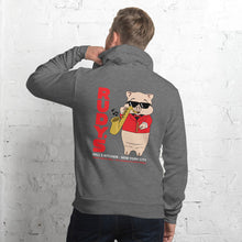 Load image into Gallery viewer, Saxophone Pig Unisex Hoodie - Rudys Bar & Grill