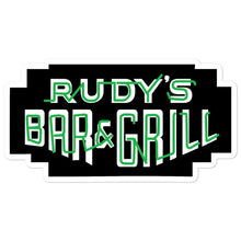 Load image into Gallery viewer, St. Patricks Day Neon Sign Sticker - Rudys Bar & Grill