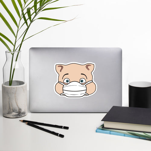 Corona Pig Head Sticker