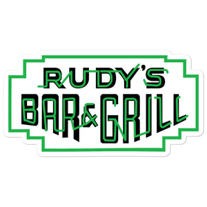 St. Patricks Day Neon Stickers - Rudys Bar & Grill