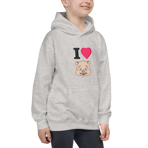 I love Pig Kids Hoodie - Rudys Bar & Grill