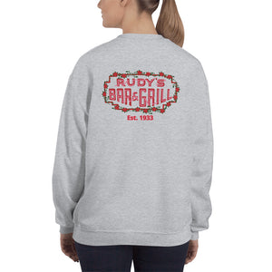 Cupid Pig + Valentine's Day Sweatshirt - Rudys Bar & Grill