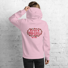 Load image into Gallery viewer, Cupid Pig + Valentine's Neon Sign Hoodie - Rudys Bar & Grill