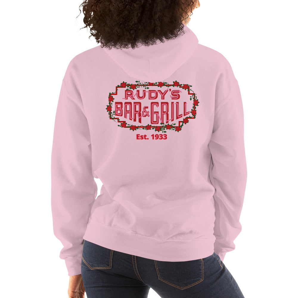Cupid Pig + Valentine's Neon Sign Hoodie - Rudys Bar & Grill