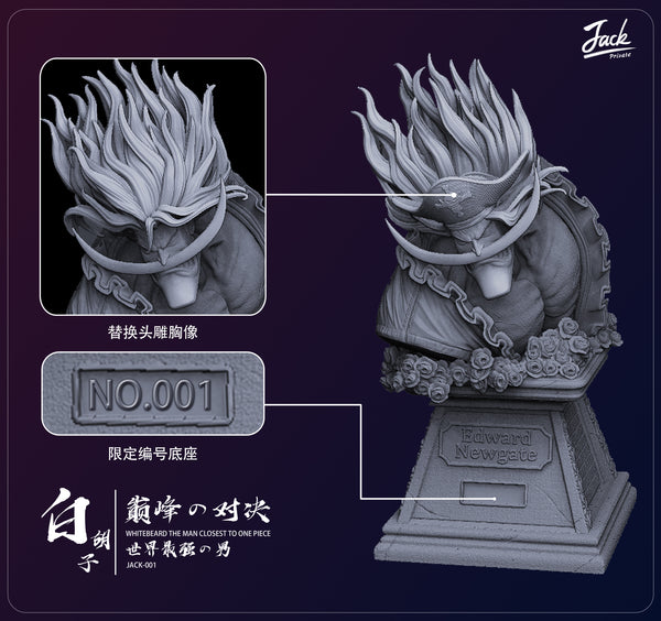 [PREORDER]Young Whitebeard 1/4th Scale White Ver.