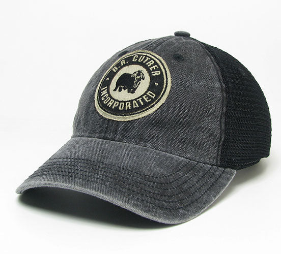 BR Cutrer, Inc. - Black Cap with Circle Patch