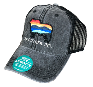 BR Cutrer, Inc. Brahman Sunset Cap in Black