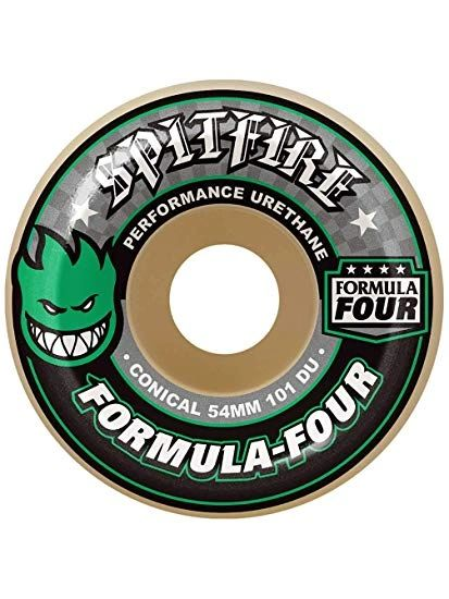 Spitfire F4 Conical Green Print Wheels 53mm